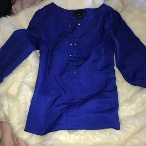 WOMEN'S DRESS BLOUSE STUDDED SHIRT SIZE XS